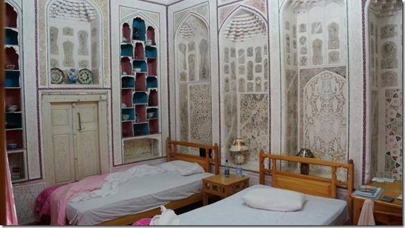 1905 Unser Zimmer im alten usbekischen Stil im Hotel Komil Bukhara  (1024x575)