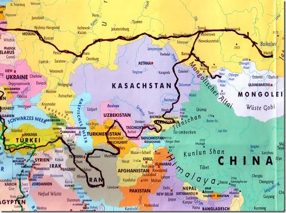 Reise 2015 Europa Asien