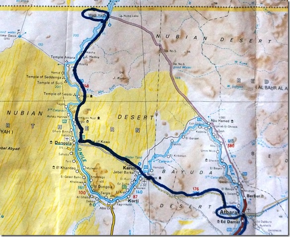 2973 Atbara - Wadi Halfa (Lake Aswan)