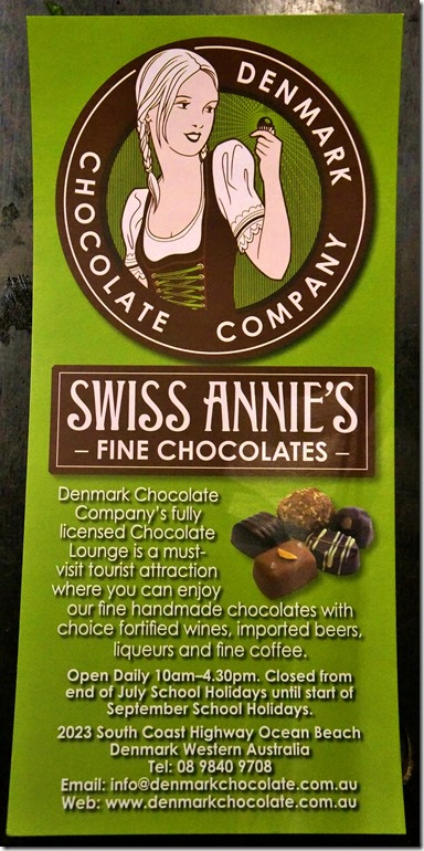 1238 der Werbeprospekt der sehr geschäftstüchtigen Schweizerin mit ihrer Schokoladenfarm unmittelbar vor Albany