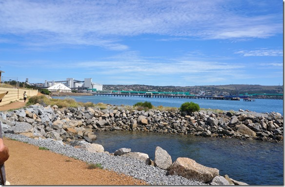1402 der Hafen von Port Lincoln, hier wird Getreide in rauhen Mengen verschifft