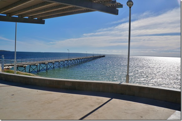 1420 Jetty vor dem Forshore Camp in Ceduna