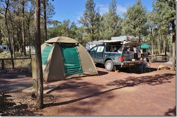 1533 unser Campingplatz in Filders Range =wunderschön im Wald gelegen