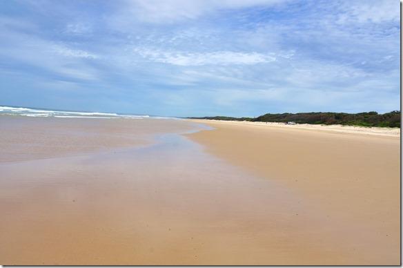 1971 die Manning Point Beach Richtung Westen = auch hier keine Menschenseele