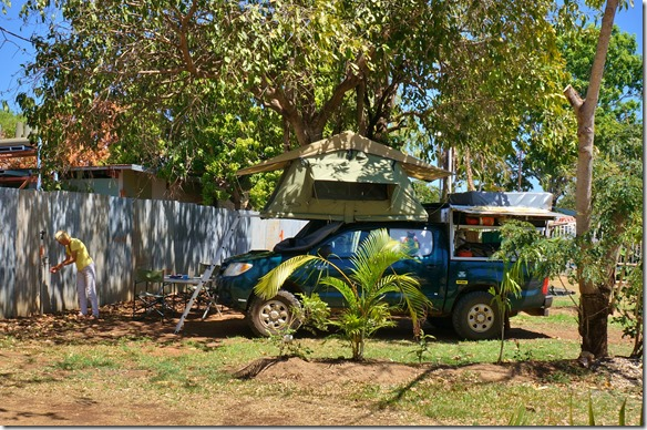 2884 ein schattiger Campingplatz in Pine Creek