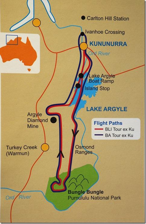 3019 die blau gezeichnete Rote ist unser flug nach den Bungle Bungle