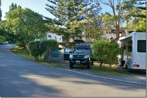 1011 Remoura Motor Lodge = erster Camping in Neuseeland
