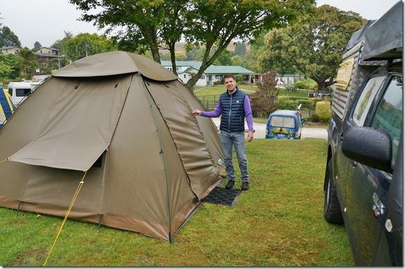 1095 auf dem wunderschönen Waitomo Camping nach einem der vielen kurzen Regenschauern