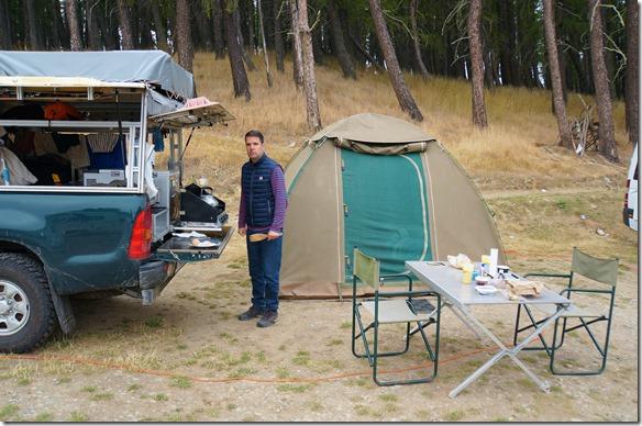 1219 vor dem zusammenpacken bevor wir ins Thermalbad gehen und anschliessend weiter nach Moreaki zu den Boulders fahren