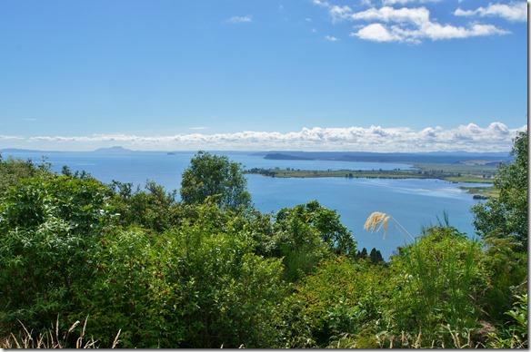 2060 am westlichen Ufer des Lake Taupo's führt die Strasse über einen Pass Richtung Westen zu unserem nächsten Highlight, des forgotten World Highways
