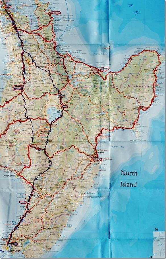 Nordinsel 2. Teil (östlich, Auckland bis Wellington)