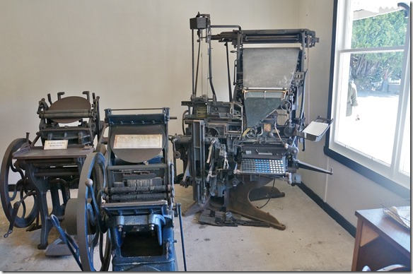 2286 auch die Druckerei mit der originalgetreuen Einrichtung und Maschinen ist da