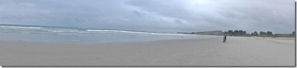 2395 der wunderschöne Strand gleich neben dem Camping Taieri Mouth
