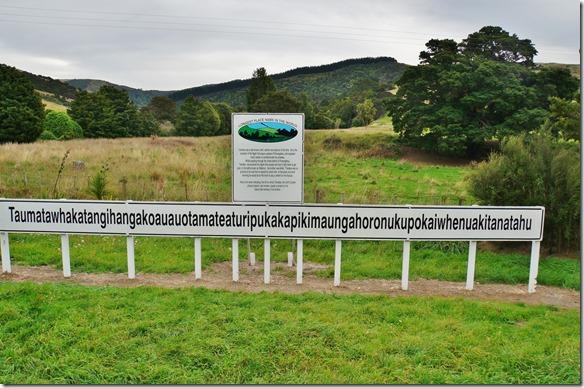 2518 auf dem Weg nach Norden, nach Herbertville ist der Berg mit dem weltlängsten Namen