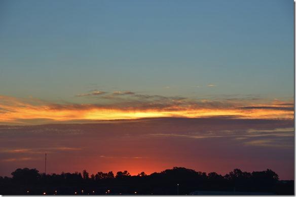 a1734 ein letzter Sonnenuntergang auf der Grande America