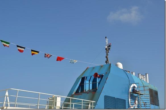 a1397 es ist der höchste Punkt des Schiffes und der Wind bläst da oben extrem stark