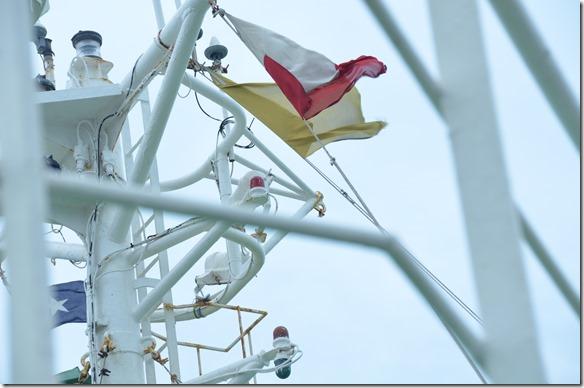 a1577 jetzt ist auch die Lotse an Bord-Flagge gesetzt
