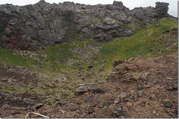 1741 wir sind auf den Krater Saxholl gestiegen und wollten sehen ob er nicht ausbricht in der nächsten Zeit