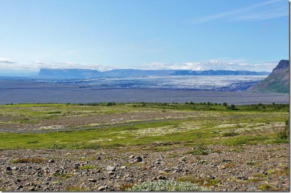1912 eine riesenbreite Gletscherzunge ebenfalls ein Ausläufer des Vatnajökuls